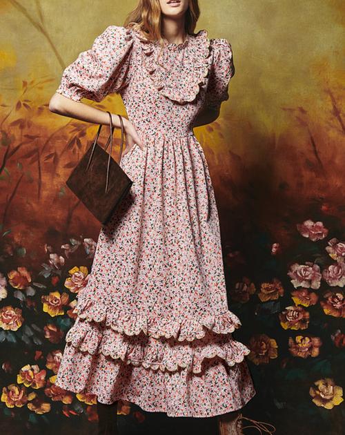 Abaca Dress in Courderoy