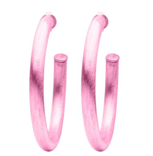 Pink Arlene Hoops