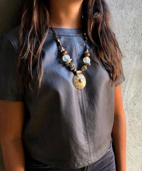 Cord Classic Pendant  Necklace