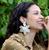 Camellia Pearl Earrings Cream
