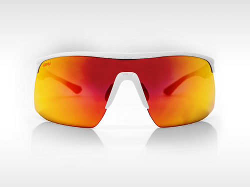 Sunglasses SPEED Gruppo White - Red Mirror