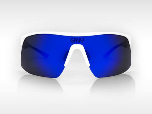 Sunglasses SPEED Gruppo White - Blue Mirror