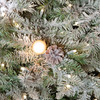 Close up of G40 LED Lights and Frosted Pine Folaige