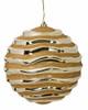 """J-180172 - Gold 12"""" Reflective Swirl Ball"""
