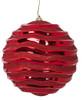"J-180170 - Red 12"" Reflective Swirl Ball"