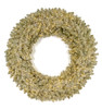 """C-180894 48"""" Sparkling Champagne Wreath with 3mm Mini Cluster LED Lights"""