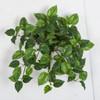 "P-190490 14"" Pothos Bush Variegated Green/Cream"