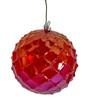 "J-200320 - 5"" Iridescent Red Grid Ball"