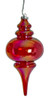 """J-200310 - 10"""" Iridescent Red Finial"""