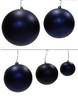 "Matte Navy Blue Ball Ornaments 4"", 6"", 8"", 10"", 12"" Size"
