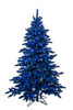 Navy Blue Flocked Marin Trees with Blue LED Lights | 5 Foot, 7.5 Foot, or 9 Foot