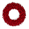 "36"" Red Flocked Valentino Wreath w/Red LED Lights"