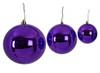"4"" 6"" or 8"" Reflective Purple Ball Ornaments"