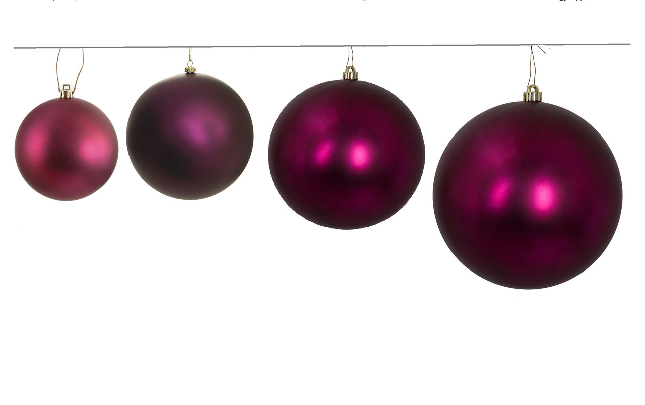 Matte Burgundy 10 pieces w Darice Christmas Boxed Ornaments 1.77 inches