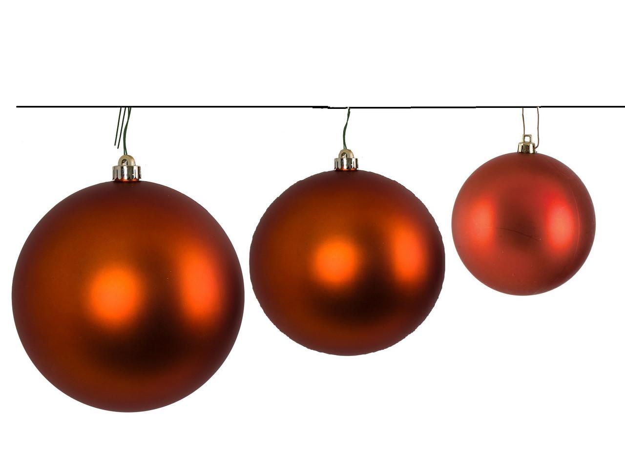 Copper Christmas Ornaments.4 6 Or 8 Copper Matte Ball Ornament Matte Christmas
