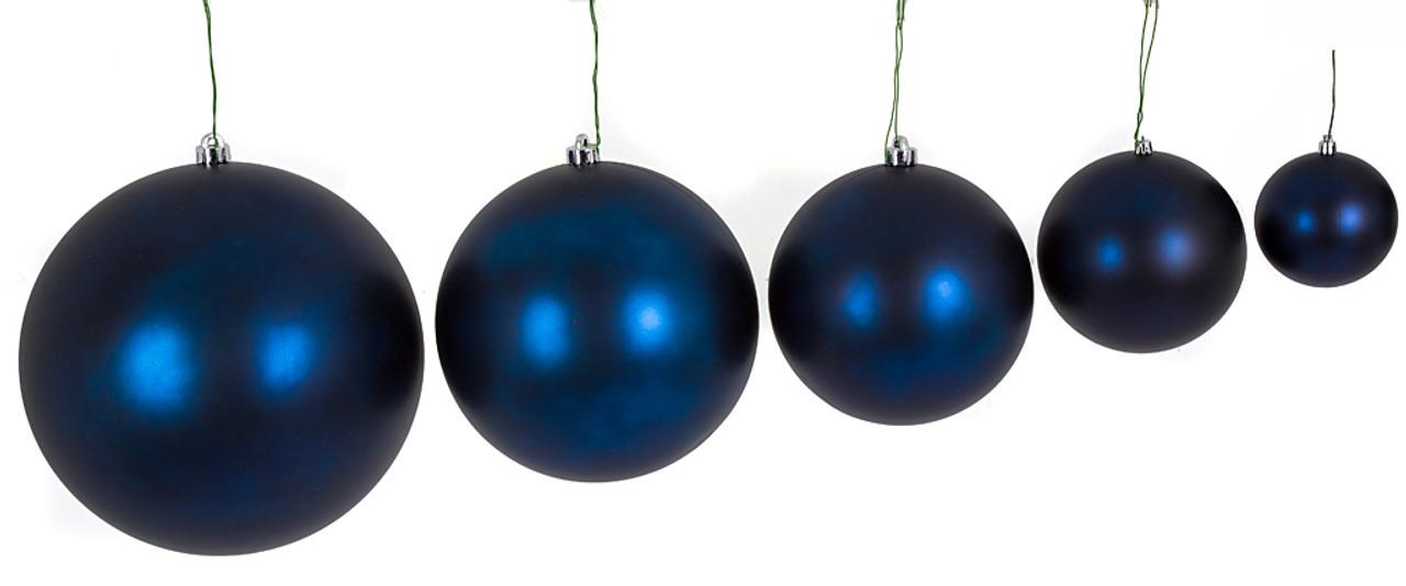 Matte Navy Blue Ball Ornaments Wholesale Christmas Ornaments Autograph Foliages