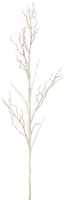 48 Inch Glittered Twig Spray - Champagne Gold
