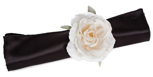 3 Inch Iced Rose Napkin Ring Cream