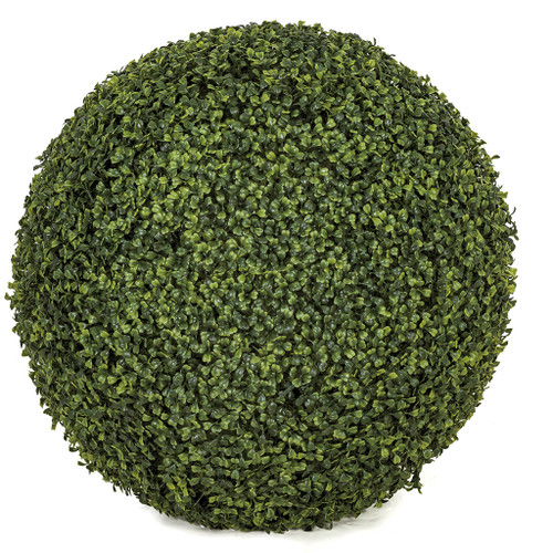 "24"" Boxwood Ball Traditional Leaf Tutone Green"