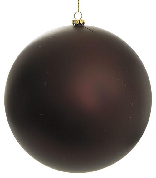 "J-1110516"" Matte Chocolate Ball Ornaments"