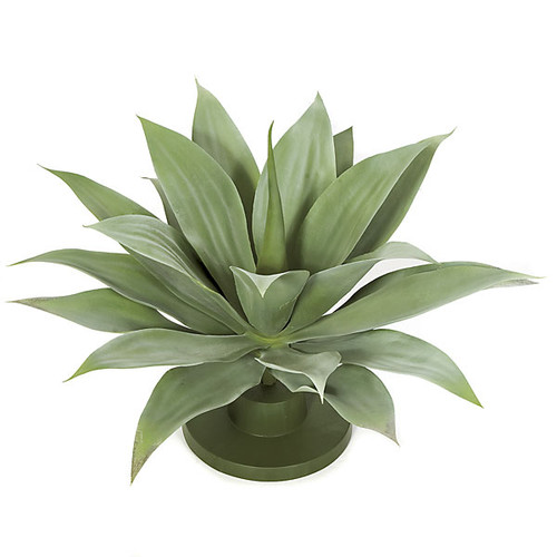 17 Inch Plastic Agave Plant w/Round Base 24 Inch Width