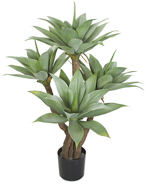 4 Foot Plastic Agave Tree 
