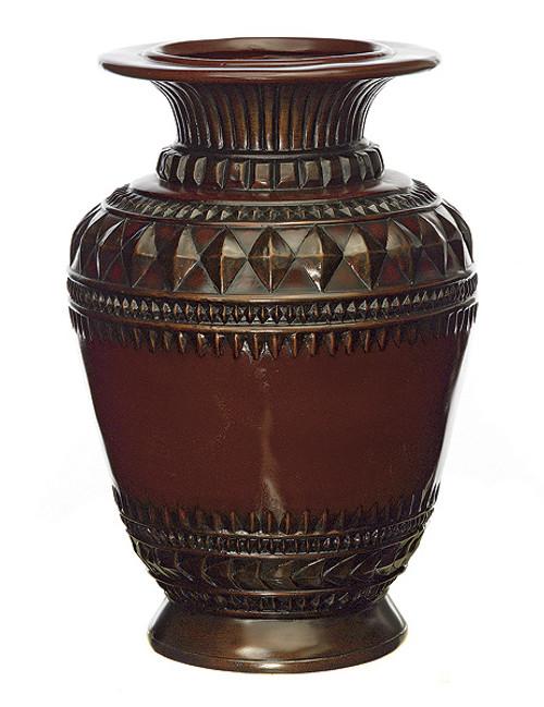 """D-6036018"""" Fiberglass VaseWood Tone"""