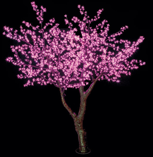 L-1404408' Pink LED Cherry Blossom Tree Brown Trunk/Branches