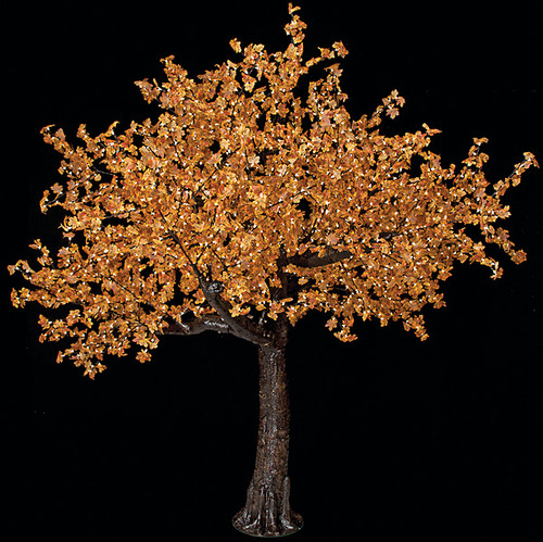 8 Foot Maple Tree 2120 Warm White 5mm LED Lights Brown Trunk/Branches