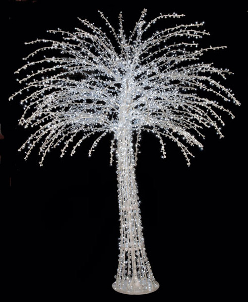 LED Acrylic Fashion Trees with Cool White LED Lights