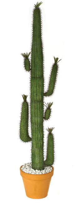 7' Plastic Saguaro Cactus