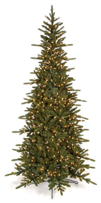 5 to 12 Foot Russian Fir Slim Trees with LED Lights ...