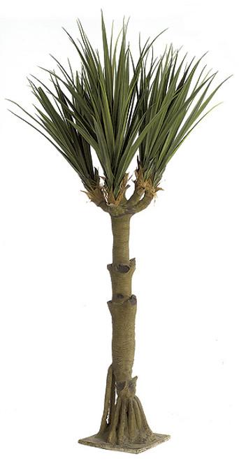 11' Plastic Yucca Tree with Fiberglass Trunk