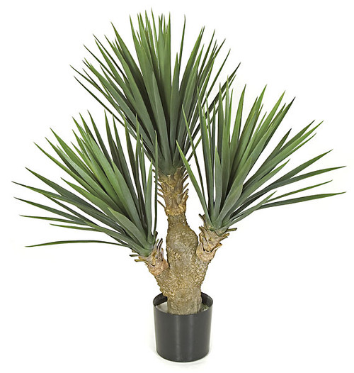 "28"" Plastic Baby Yucca Bush - Limited UV Resistance"