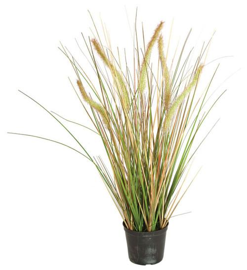 """24"""" PVC Foxtail Onion Grass Bush"""