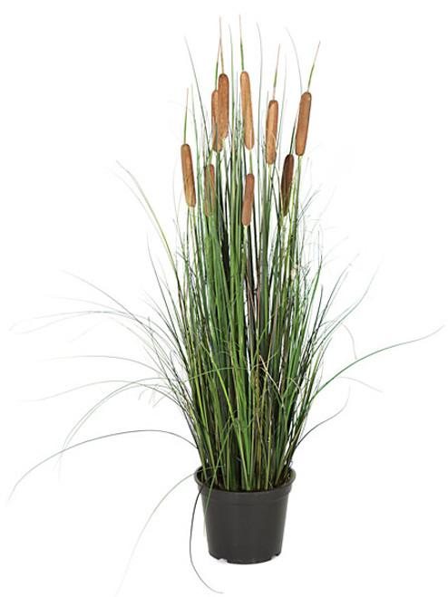 """36"""" Cattail and PVC Onion Grass Bush"""