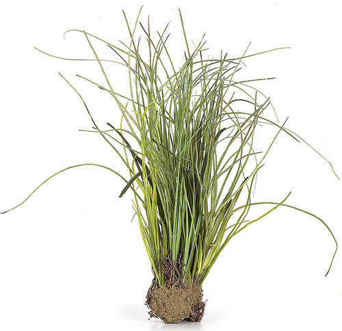 """18"""" Plastic Mixed Grass with Dirt Base"""