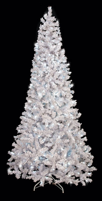 Flocked Arctic Pine Trees - 7.5 Ft., 9 Ft., and 12 Ft ...