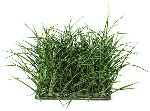 "10"" Plastic Wild Long Grass - 8"" Height - Dark Green"
