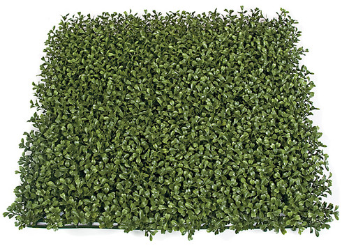 "AUR-110200 - Fire Retardant and Limited UV Rated 20"" x 20"" Plastic Boxwood Mat 