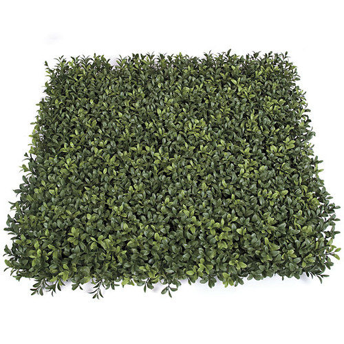 """20"""" x 20"""" x 3"""" New Leaf Style - Plastic Boxwood Mat - Limited UV Protection and Fire Retardant"""