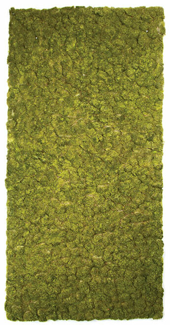 """A-130470 71"""" x 36"""" Artificial Moss Mat - Tutone Green"""