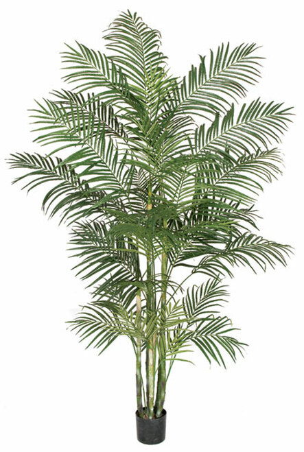 P-100935 8' Areca Palm Tree with Synethic Canes