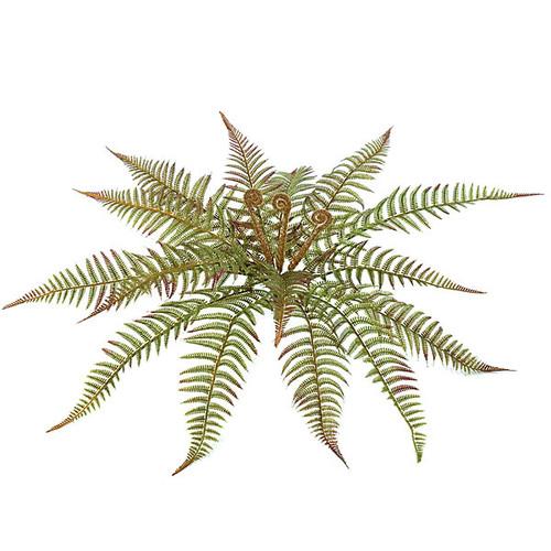 "A-8293018"" Plastic Fern Bush26"" Approx. Width Green/Brown"