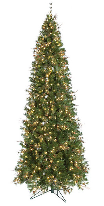 8ft Breckenridge Frosted Pine Artificial Christmas Tree PE /& PVC
