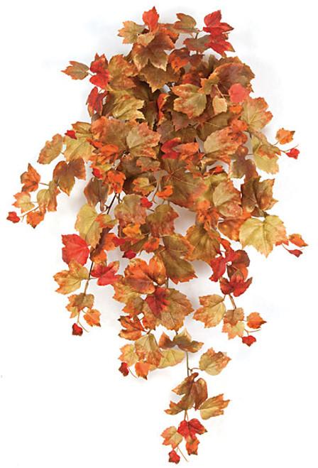 "P-12087030"" Grape Leaf BushGreen/Brown/Orange/Red"