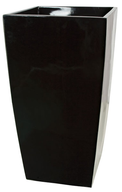 "37"" Tall Planter - Gloss Black"