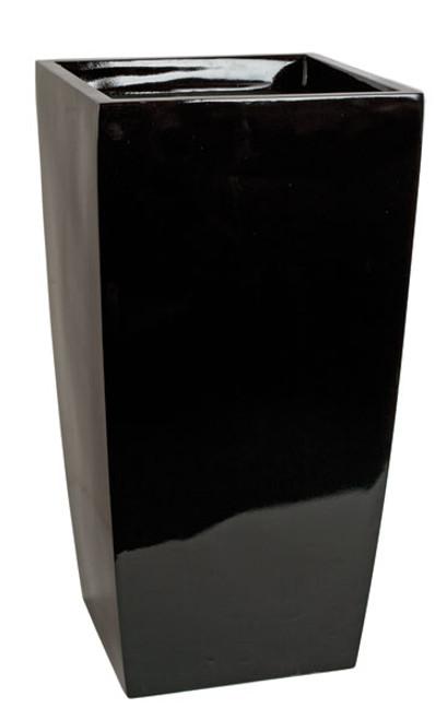 """D-13055030.5"""" Tall Planter - Gloss Black"""