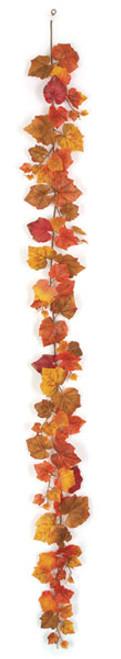 P-1413006' Grape Leaf GarlandBrown/Red/Orange