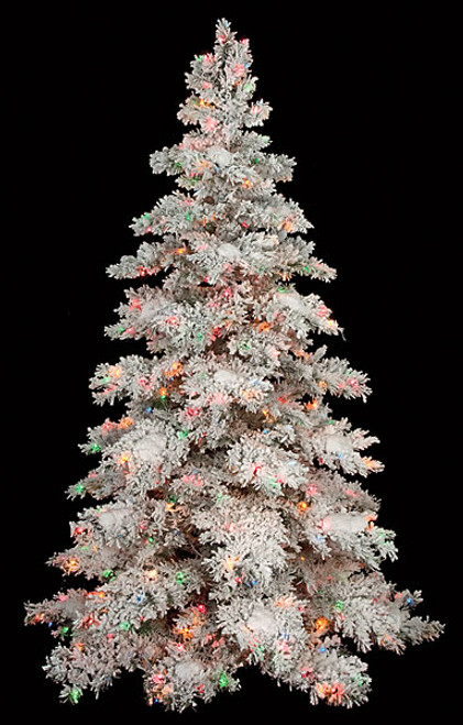 purchase cheap 9f03b 85d82 7.5 Ft., 9 Ft., and 12 Ft. Heavy Flocked Snow Tree